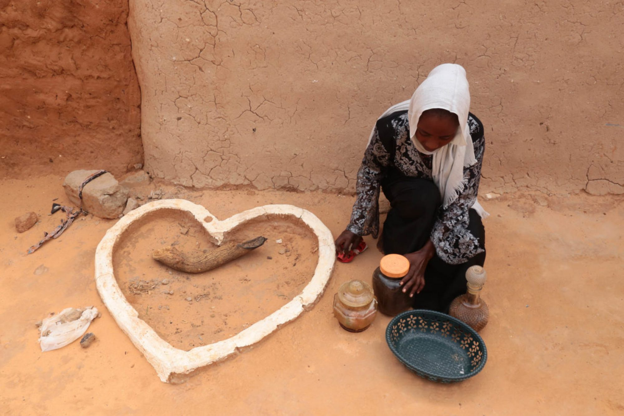 Girl in the Touloum refugee camp, Chad.