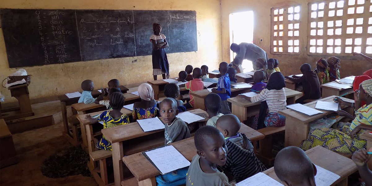 A JRS supported classroom in Batouri, Cameroon